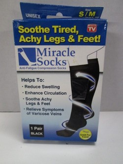 163aefc3fc5080 Miracle Socks Anit-Fatigue Compression Socks UNISEX SIZE S/M BRAND NEW! |  Finer Things