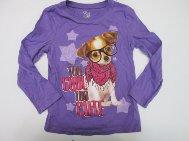The childrens place too cool too cute long sleeve print for T shirt printing place