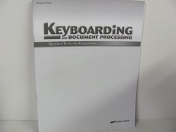 A Beka Keyboarding Used Elective, quizzes/tests