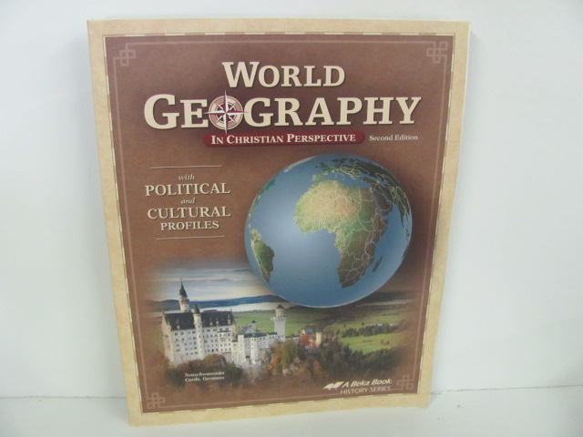 A Beka World Geography Used 9th Grade Student Book Roland Inc