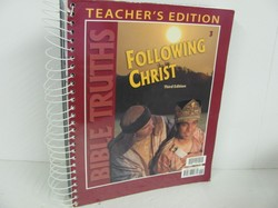 Bob Jones Following Christ Used 3rd Grade, Teacher Edition