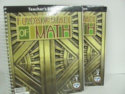 Bob Jones Fundamentals of Math Used 7th Grade, Teacher Edition