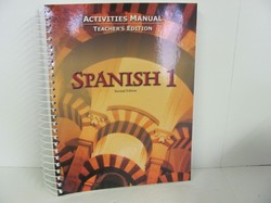 Bob Jones Spanish 1 Used Spanish, Activities Manual Teacher