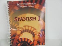 Bob Jones Spanish 1 Used Spanish, Activities Manual