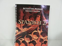 Bob Jones Spanish 2 Teacher Edition- Used Spanish