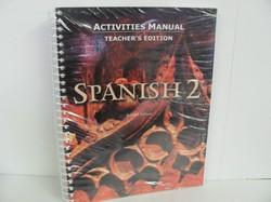 Bob Jones Spanish 2 Used Spanish, Activities Manual Teacher