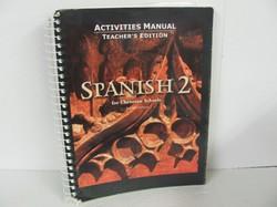 Bob Jones Spanish 2 Used Spanish, activities Manual TE
