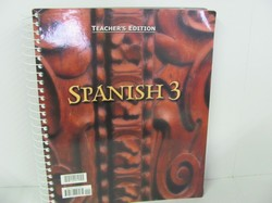 Bob Jones Spanish 3 Used Spanish, Teacher Edition