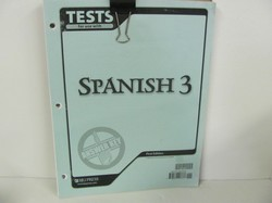 Bob Jones Spanish 3 Used Spanish, Test key