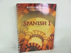 Bob Jones Spanish Used Spanish, Activities Manual TE