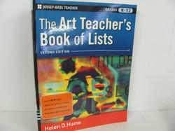 Jossey - Bass Pub-The Art Teacher's Book of Lists- Art