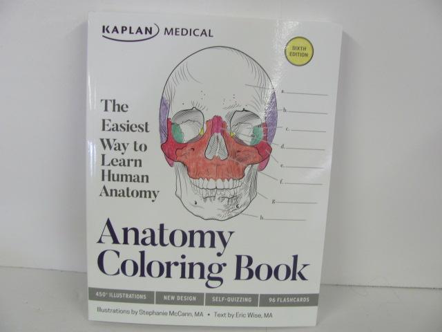 Kaplan Anatomy Coloring Book Used High School Roland Inc