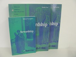 Math-u-see Stewardship Student, text and Test book