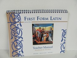 Memoria Press First Form Latin Used Latin
