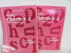 Saxon Phonics 2 Workbooks Part 1 & 2  Used Early Learning