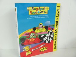 Sing Spell-Instructor's Manual for Off We Go and Raceway Books - Used