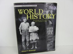 Stobaugh World History Student, High School Used World History