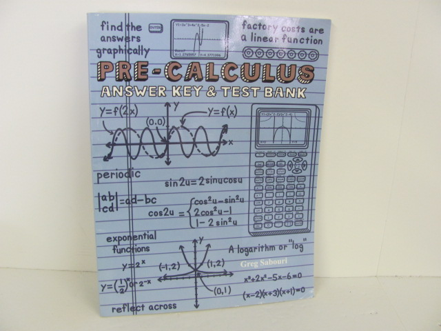 Teaching Textbook Pre Calculus Used , Answer Key & Test Bank
