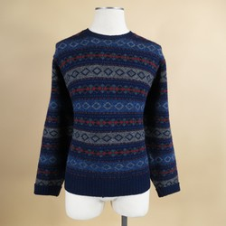 RALPH LAUREN Size L Wool Navy Sweater