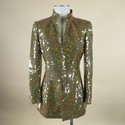 AKRIS Size 6 Gold Polyester Jacket