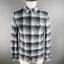 ATTACHMENT Size L Cotton Blend Slate Long Sleeve Shirt