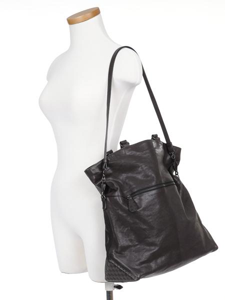 fa65ea7f0f BOTTEGA-VENETA-Brown-Leather-Foldover-Tote-BAG-Large 1249D.