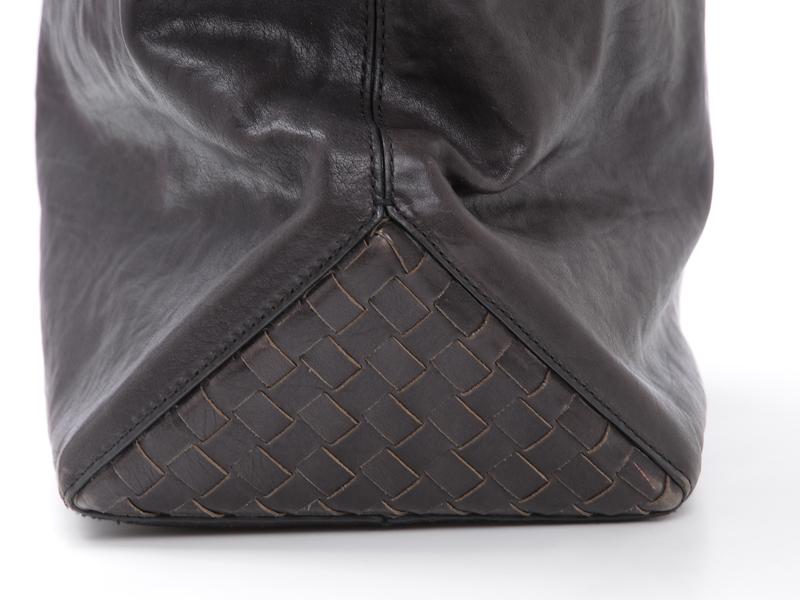 cb8696afb8 BOTTEGA-VENETA-Brown-Leather-Foldover-Tote-BAG-Large 1249J.