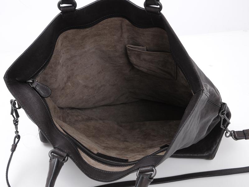 81ca06c7a0 BOTTEGA-VENETA-Brown-Leather-Foldover-Tote-BAG-Large 1249O.