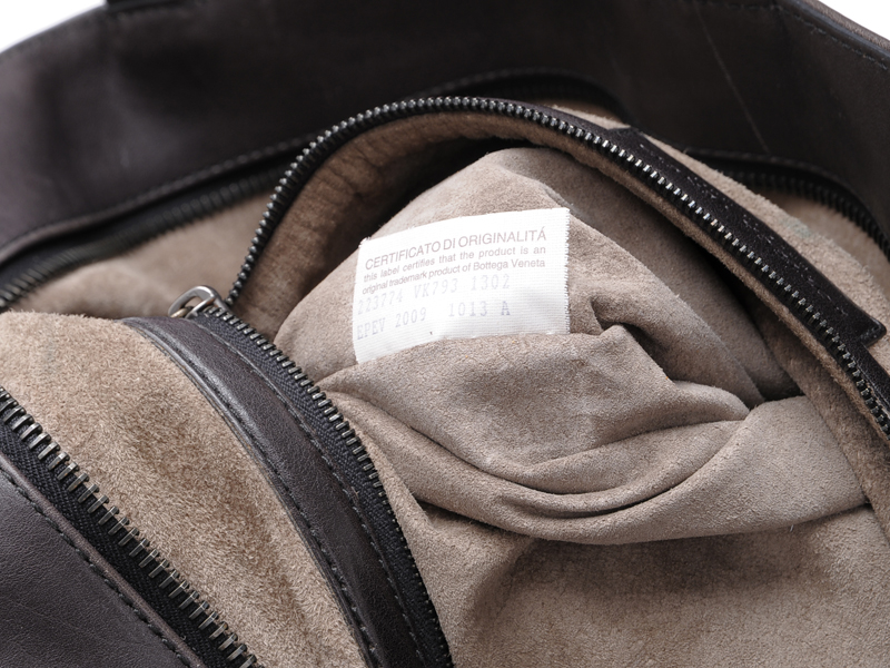 108fb11cd4 BOTTEGA-VENETA-Brown-Leather-Foldover-Tote-BAG-Large 1249T.