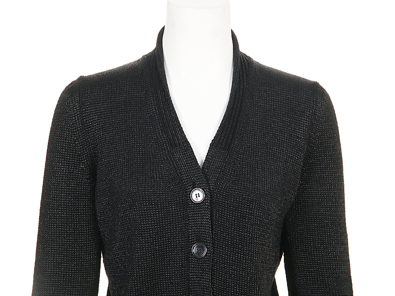 JIL SANDER Black Wool Cardigan Sweater IT-40 | Tet-a-Tet with ...