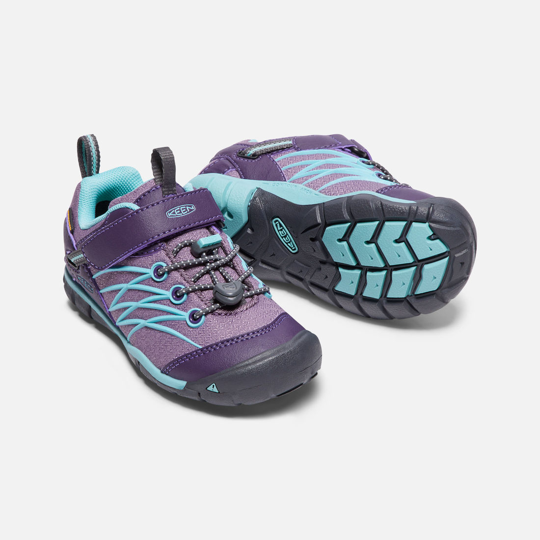 b5f0537808a KEEN Chandler CNX WP, Montana Grape/Aqua Haze (8-13) | Kid Friendly ...