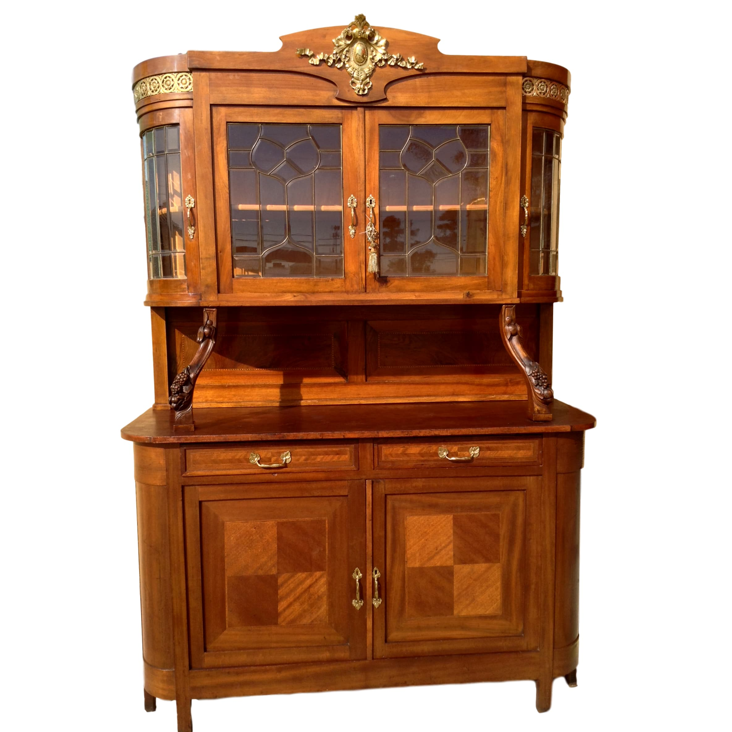 chairish hutch vintage walnut product antique