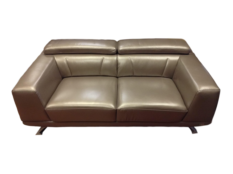 Brustle Modern Dark Grey Eco Leather Sofa  Chair_77187A ...
