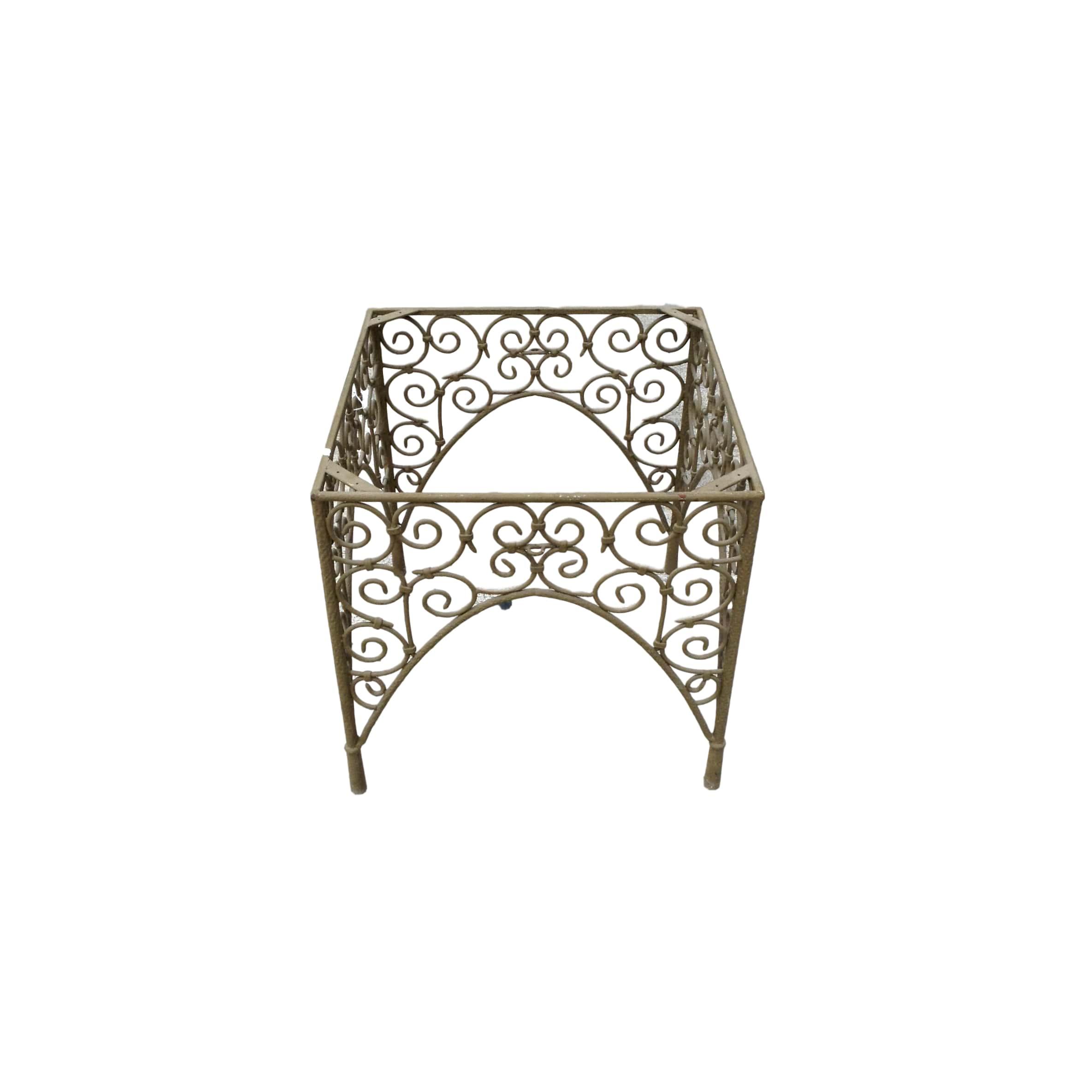 Cast Metal End Table Base