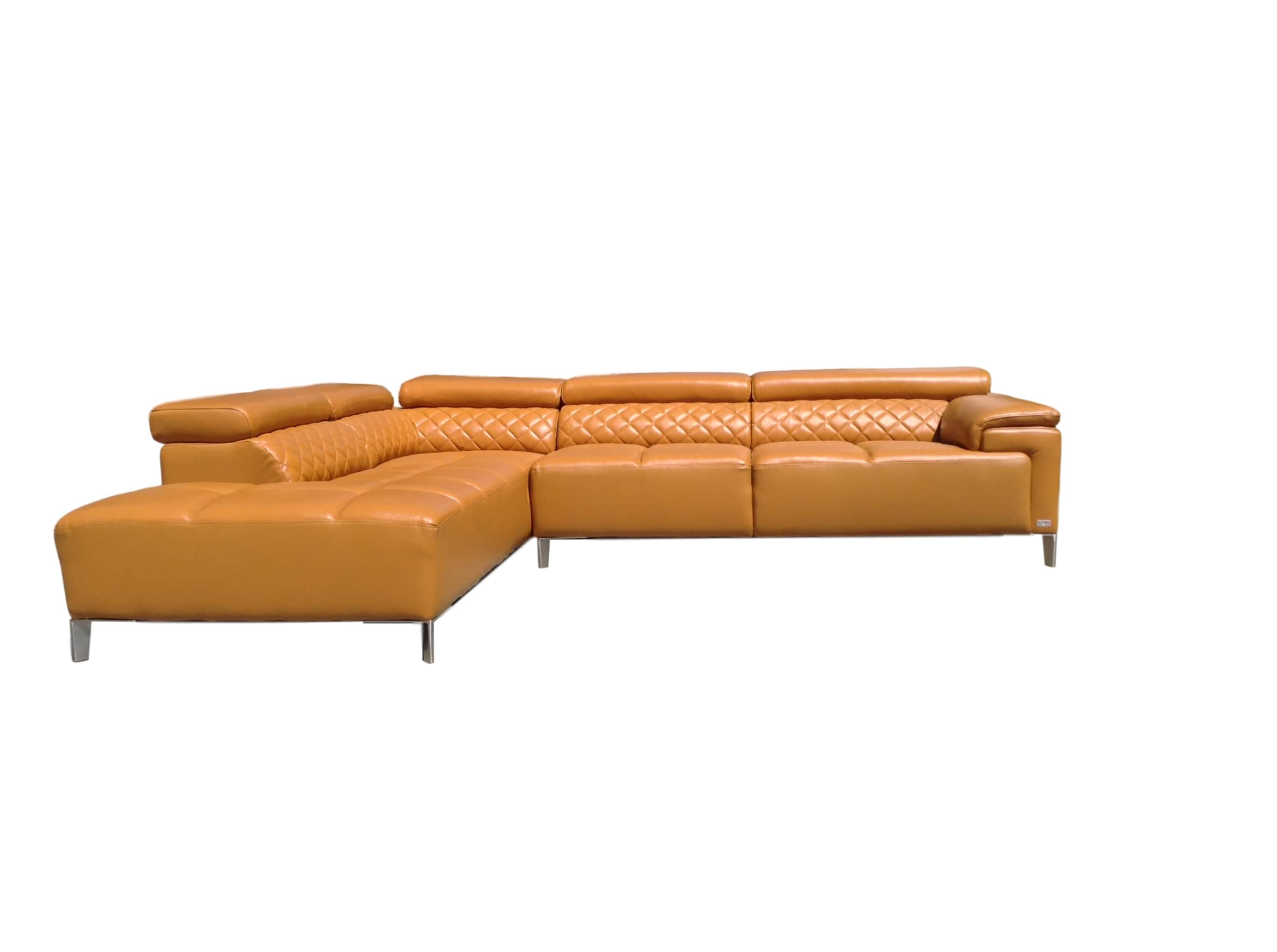 Citadel Modern Orange Italian Leather Sectional Sofa *Reduced*