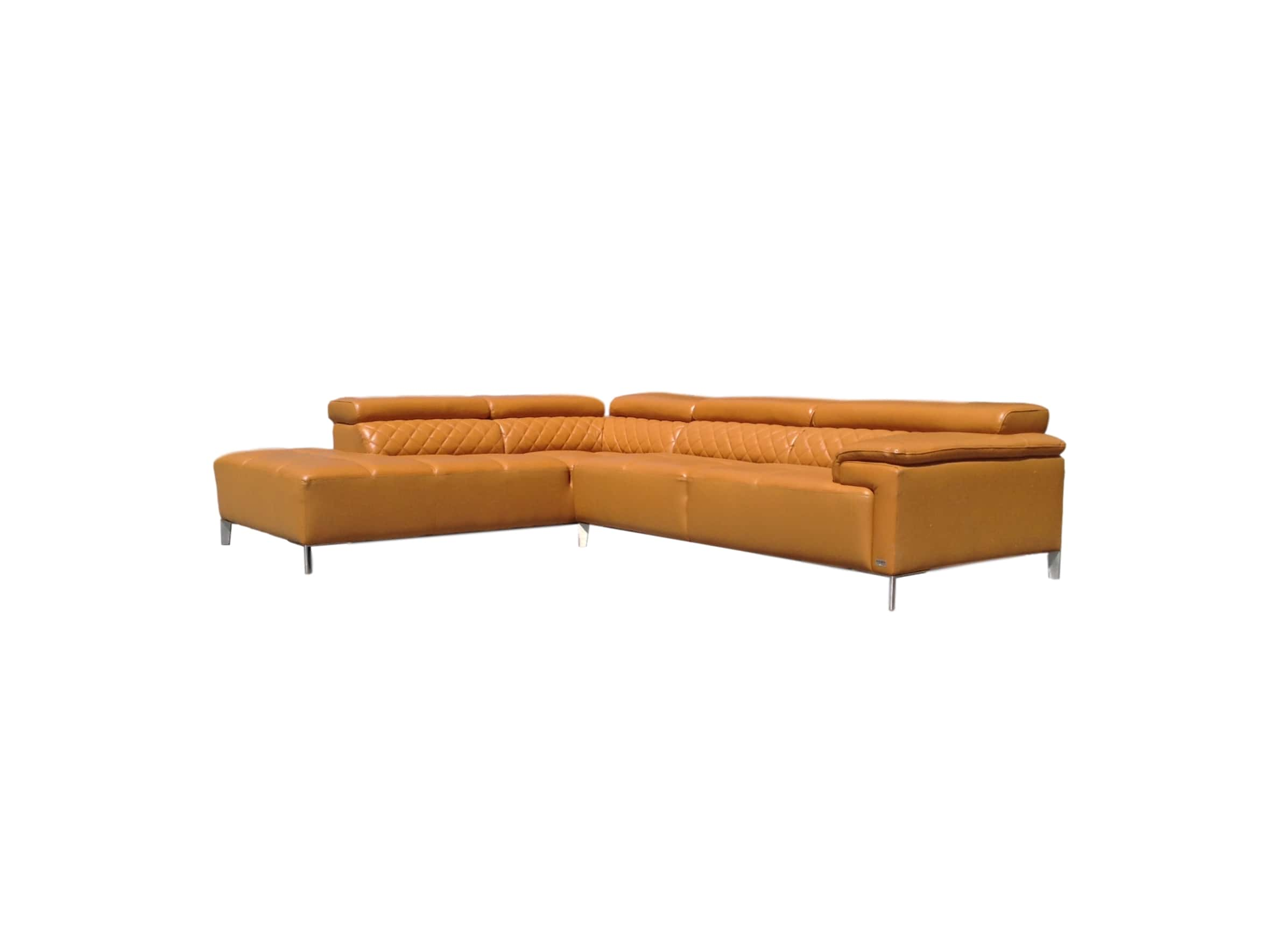Remarkable Citadel Modern Orange Italian Leather Sectional Sofa Reduced Pdpeps Interior Chair Design Pdpepsorg