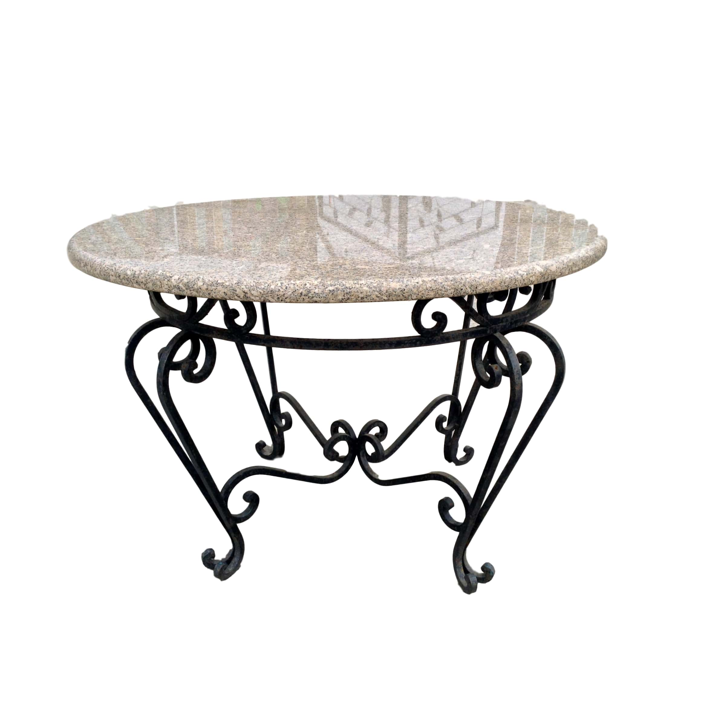 Granite Top Table W/ 4 Chairs