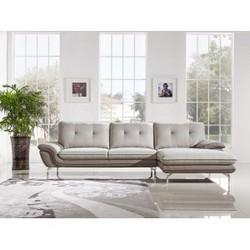 Indio Modern 2 Tone Fabric Sectional Sofa