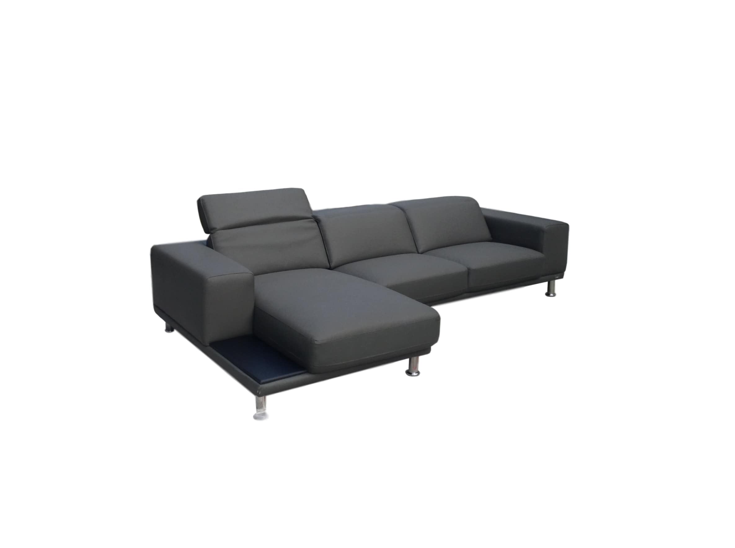 Lawson Grey Leather Sectional   Alabama Furniture