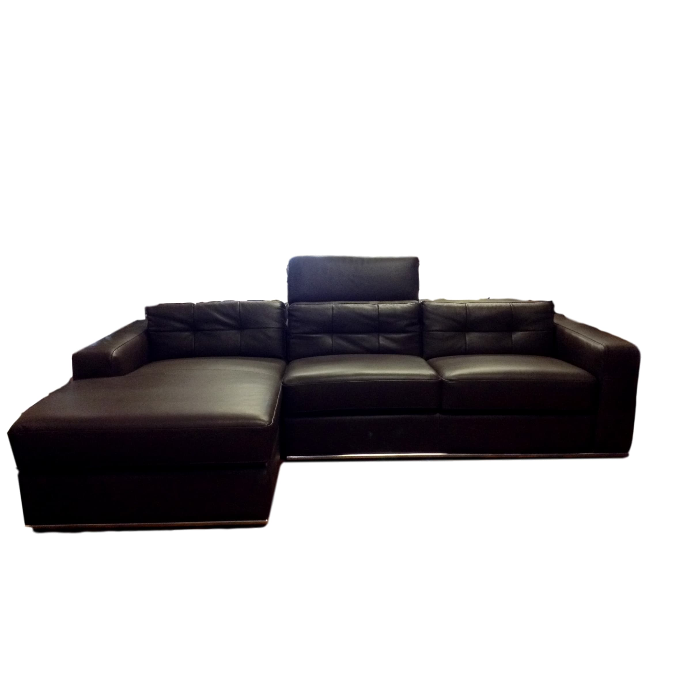 tufted of lovely black angled sectional sofa leather