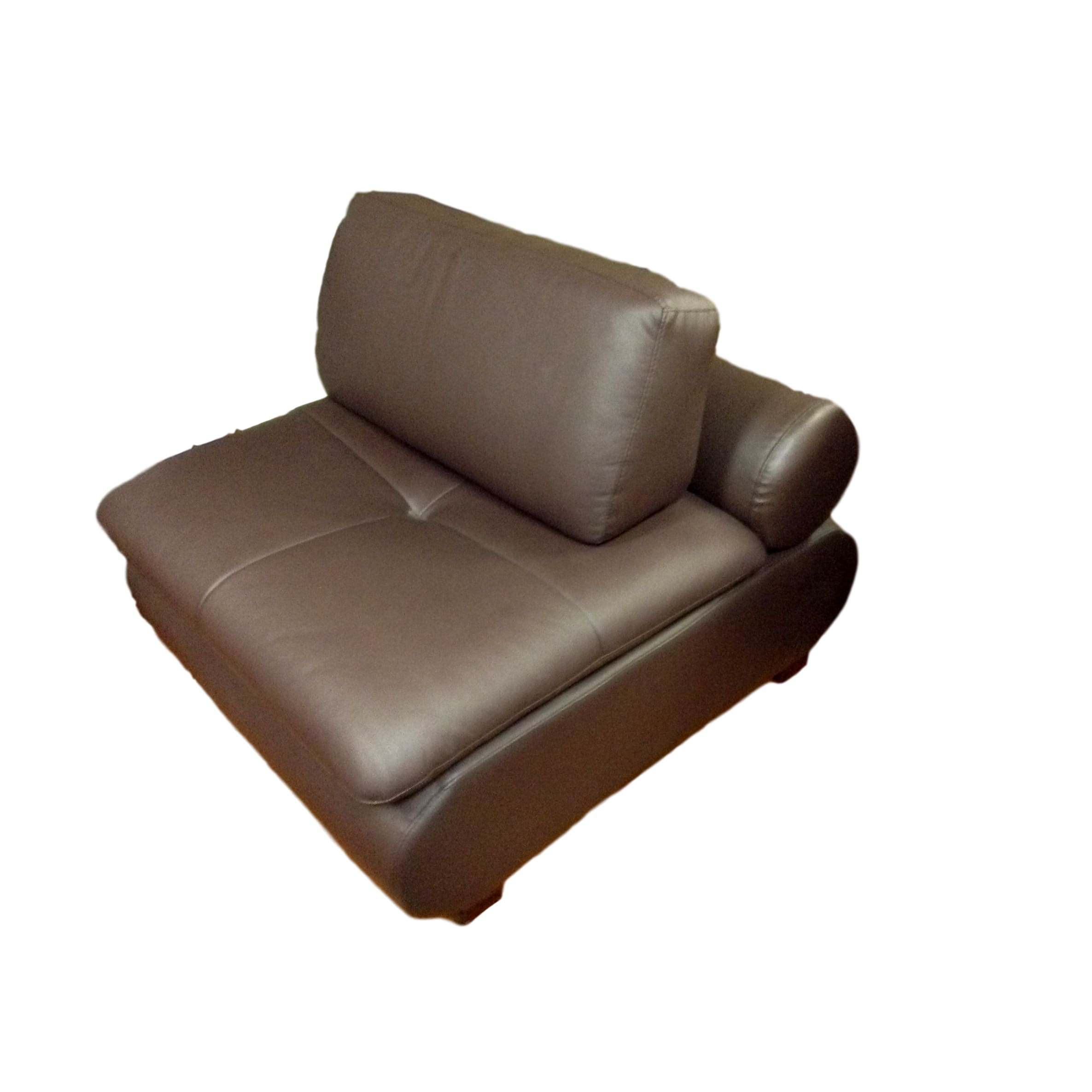 Ordinaire Modern Brown Armless Chair_77267A ...