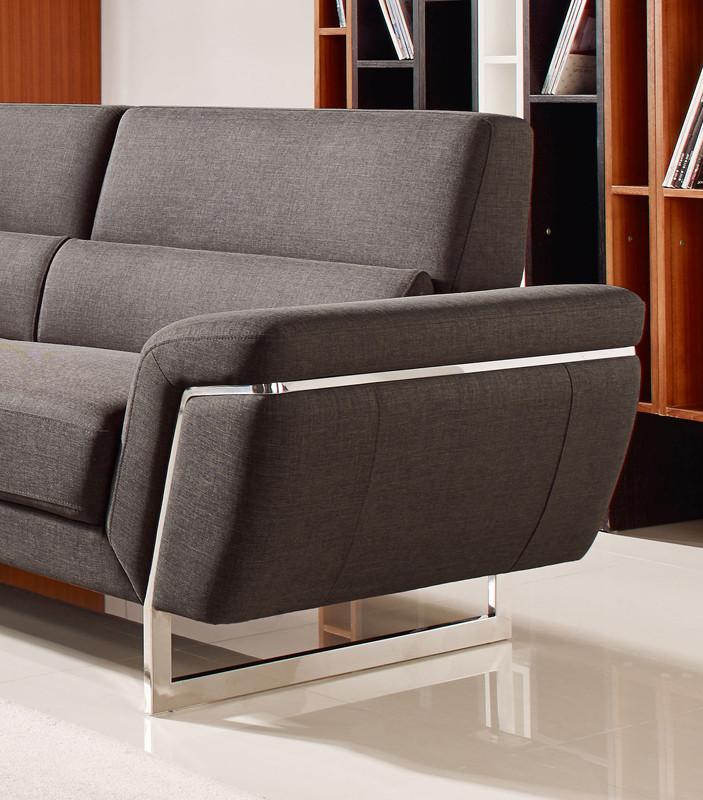 Navarro Modern Brown Fabric Sectional Sofa