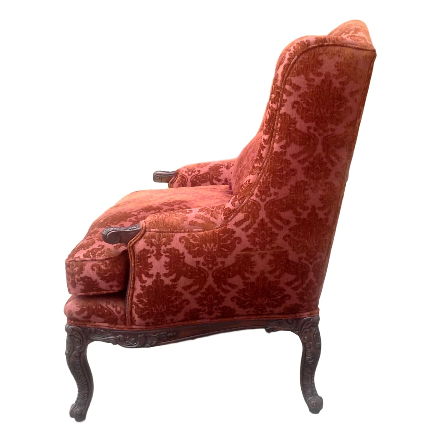 ... Red Wingback Armchair_81333B