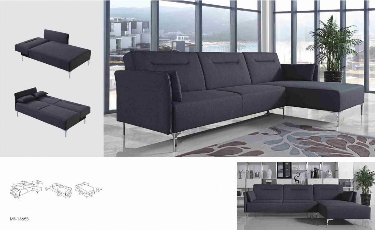 Rixton Grey Fabric Sectional Sofa Bed Right Facing Chaise | Alabama ...
