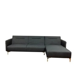 Rixton Grey Fabric Sectional Sofa Bed Right Facing Chaise