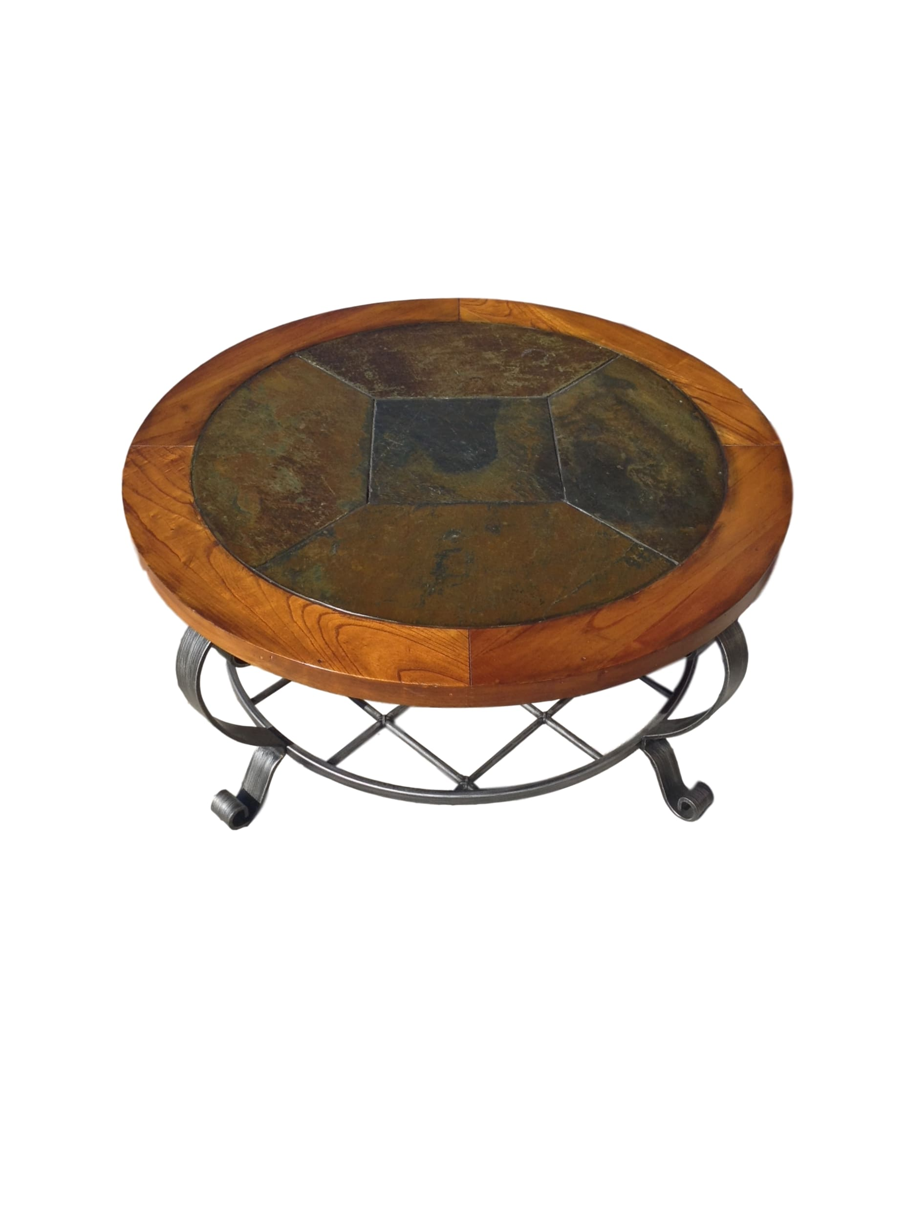 Round Stone Top Coffee Table 79830a Jpg