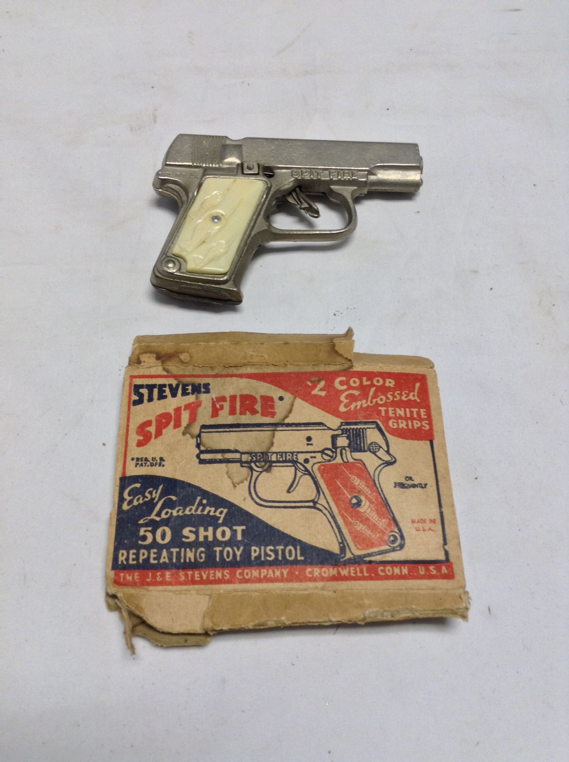 Spitfire Repeating Toy Pistol & Box