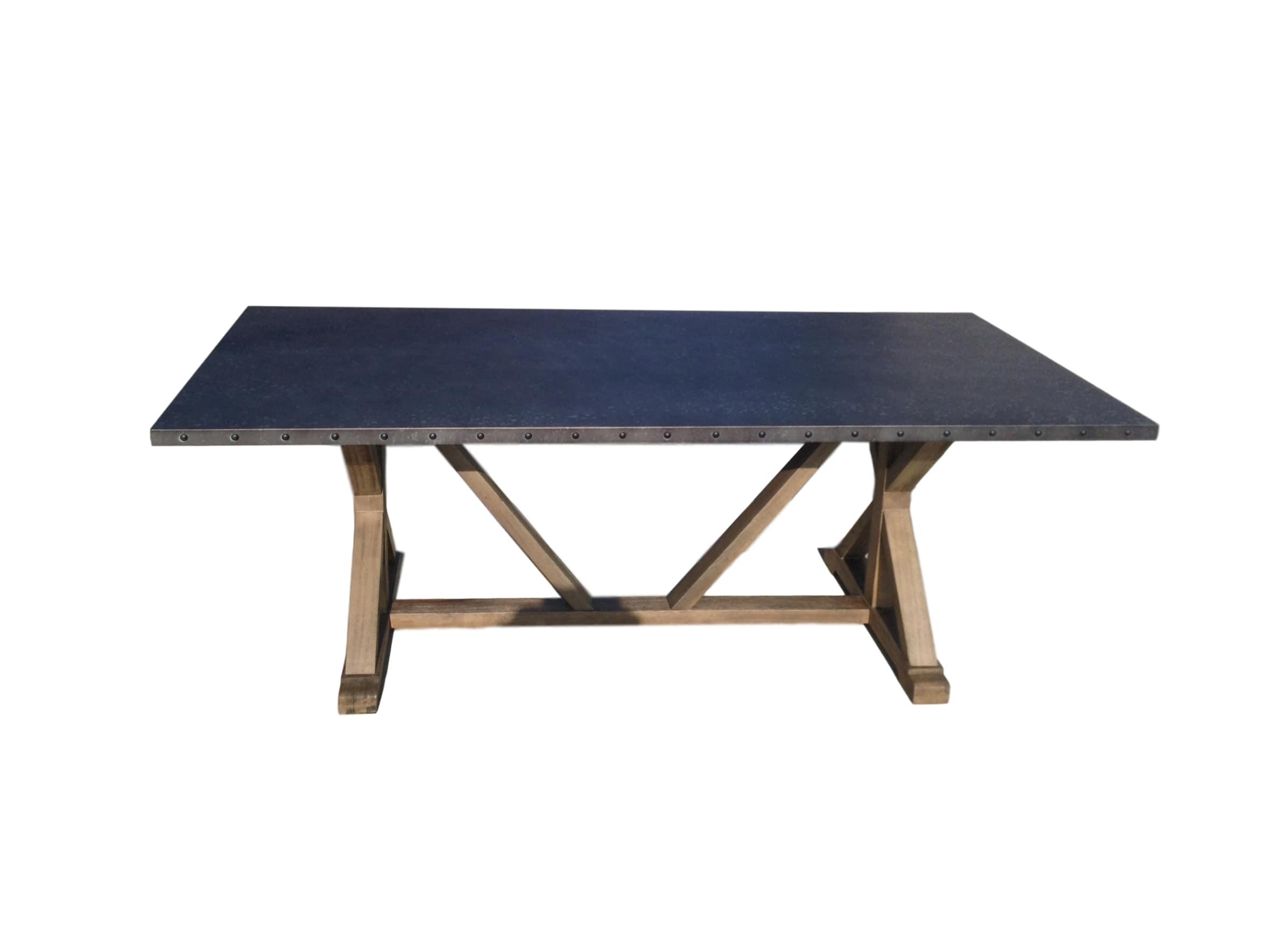 stainless steel top dining table alabama furniture. Black Bedroom Furniture Sets. Home Design Ideas