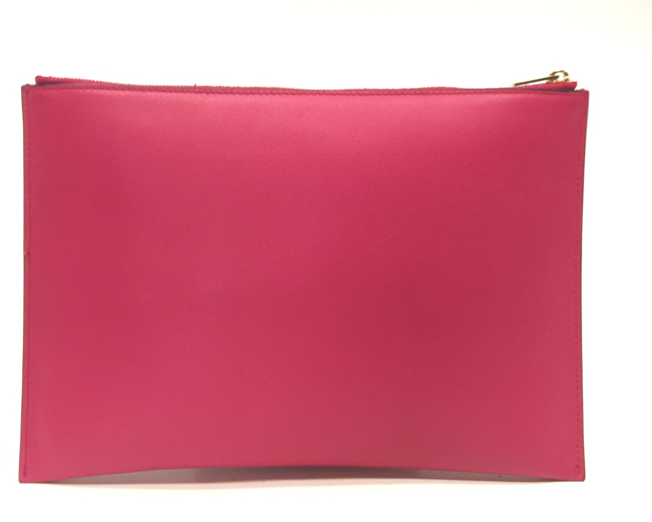 Celine Fuschia and Cream Leather Pocket Clutch Handbag | Alexis ...
