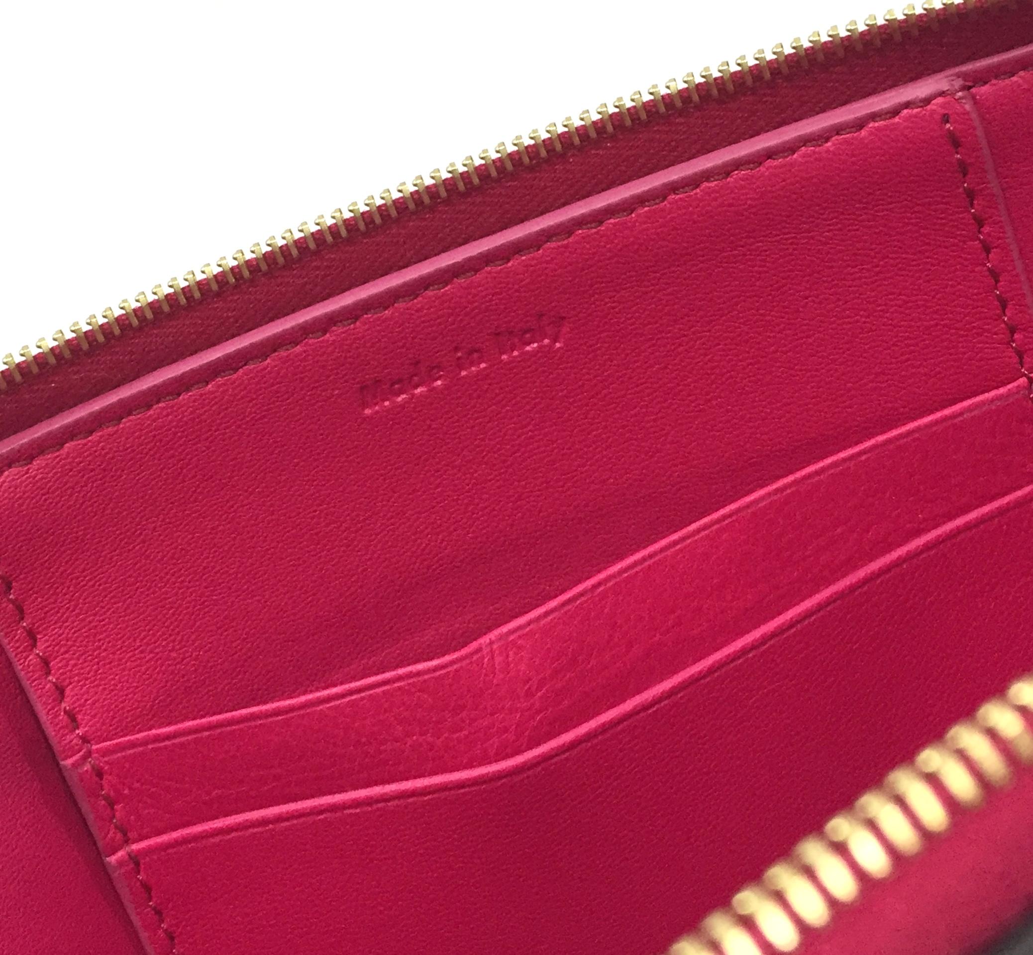 Celine Fuschia and Cream Leather Pocket Clutch Handbag | Alexis ...